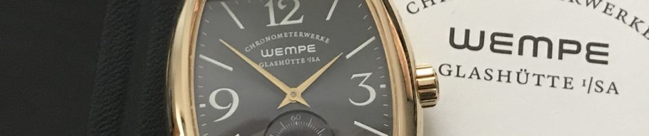 Wempe Chronometer Tonneau Gold WG04 0007